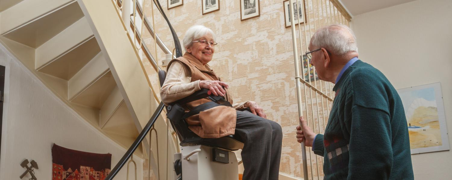 banner of Stair Lifts Can Provide Safety and Increase Home Value